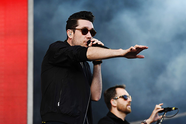 Dan Smith of 'Bastille' performs at V Festival at Hylands Park on August 20, 2016 in Chelmsford, England