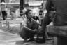 Сайгон. Маленький чистильщик обуви в разгар войны. Дети улиц чистили обувь американцам.