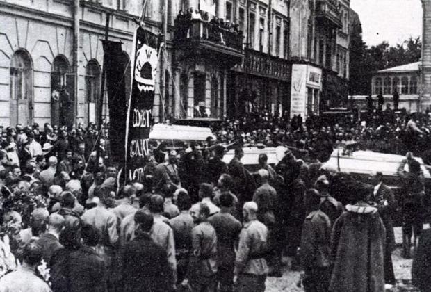 Похороны юнкеров Алексеевского училища