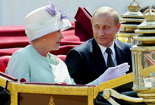 Королева Великобритании Елизавета II и Владимир Путин