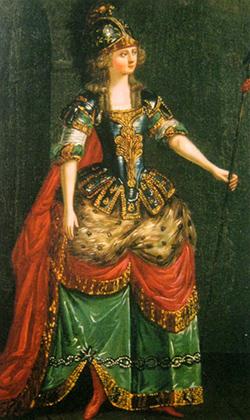 Эскиз женского костюма для театра Шереметевых, 1780-е годы