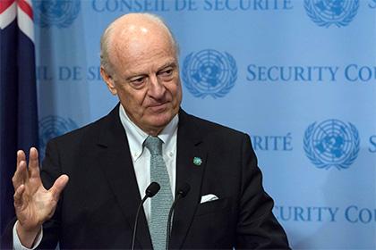 Власти Сирии отказались принять де Мистуру в Дамаске
