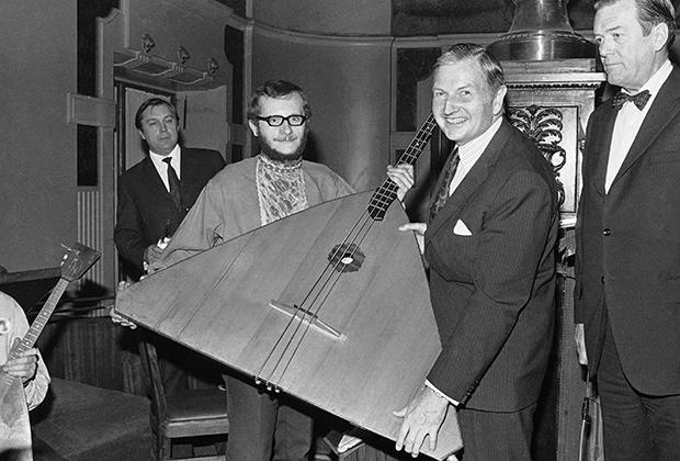 Дэвид Рокфеллер во время визита в Москву в 1973 году