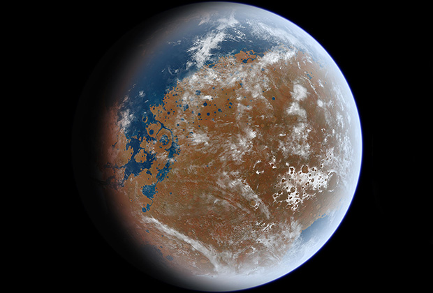 Марс стал непригодным для жизни из-за ультрафиолета исолнечных ветров
