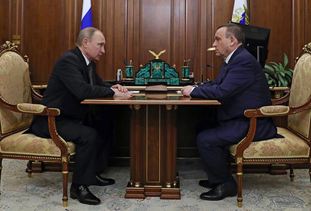 Владимир Путин и Александр Евстифеев