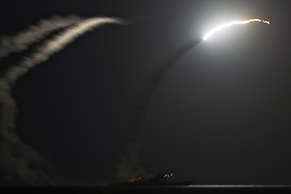 :  April 6, 2017 - *FILE PHOTO* - President Trump ordered a massive military strike on a Syrian air base in retaliation for a 'barbaric' chemical attack he blamed on Syria's President. Navy gun ships USS Porter and USS Ross targeted Shayrat Airfield in Syria, where planes that carried out the chemical attack where launched from. Pictured: Sept. 23, 2014 - Uss George H.W. Bush, United States of America - The guided missile cruiser USS Philippine Sea launches a TOMAHAWK CRUISE MISSILE during an attack on ISIS targets in Syria September 23, 2014 in the Persian Gulf Sept. 23, 2014. The ship is part of the USS George H.W. Bush carrier strike group and took part in the first wave of attacks on targets in Syria. (Credit Image: Global Look Press via ZUMA Press) Photographer: © Mcs1 Eric Garst/U.S. Navy