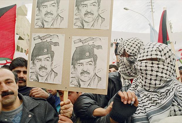 Демонстрация в поддержку Саддама в Иордании, 1991 год