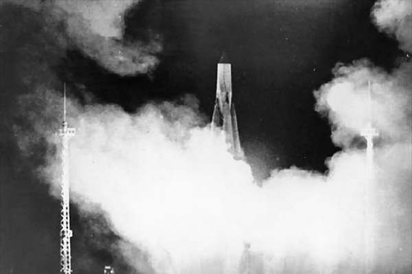 Запуск ракеты Р-7, 4 октября 1957 года