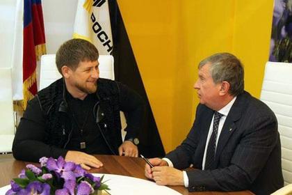 Рамзан Кадыров и Игорь Сечин