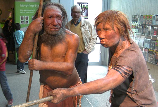 Реконструкция неандертальцев