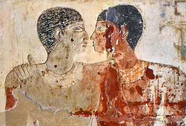 Изображение на стене гробницы Пятой династии фараонов Древнего Египта
