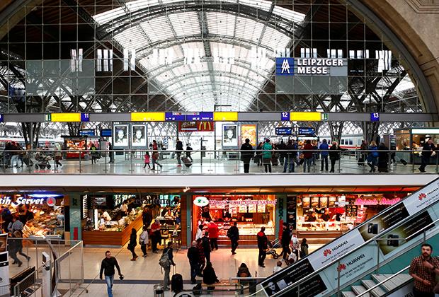 Железнодорожный вокзал Лепцига был одним из крупнейших в Европе