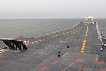 КНР спустил наводу 1-ый авианосец собственного производства