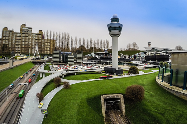 Schiphol airport perspective