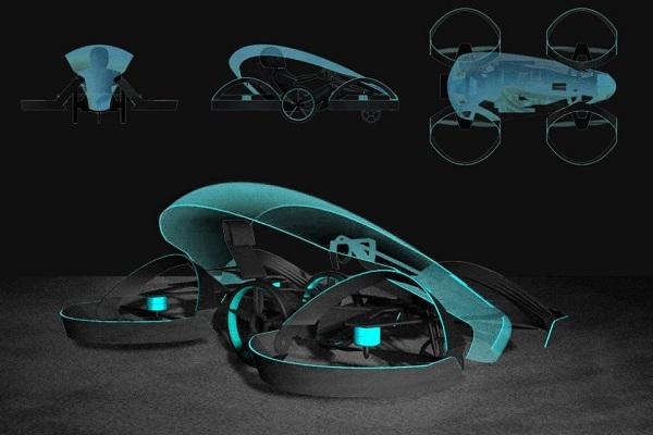 Toyota выпустит маленький летающий автомобиль Skydrive