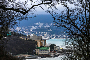 A general view shows the Crimean town of Yalta