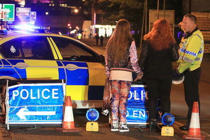 Manchester Arena incident Police at Manchester Arena after reports of an explosion at the venue during an Ariana Grande gig
