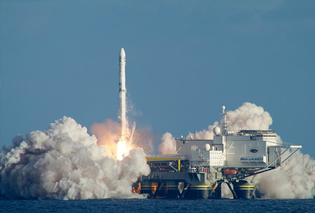 Пуск с космодрома Sea Launch