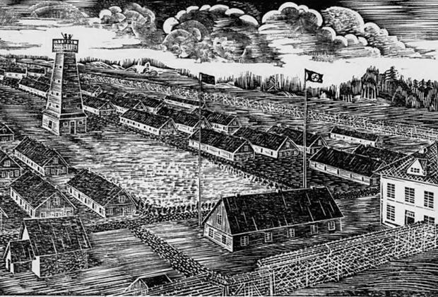 Рисунок узника лагеря