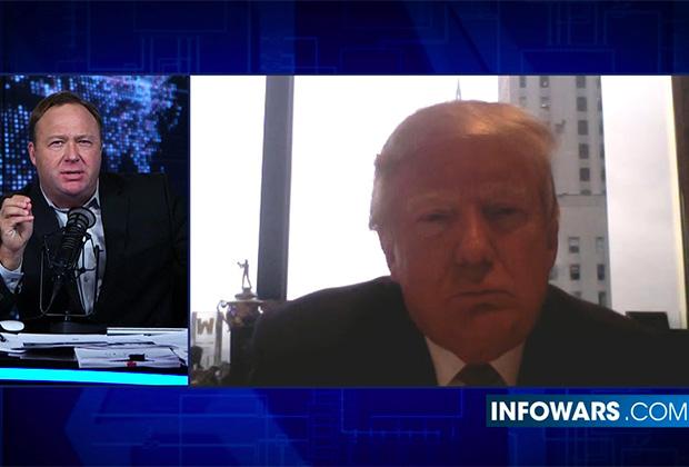 Алекс Джонс «на созвоне» с Дональдом Трампом