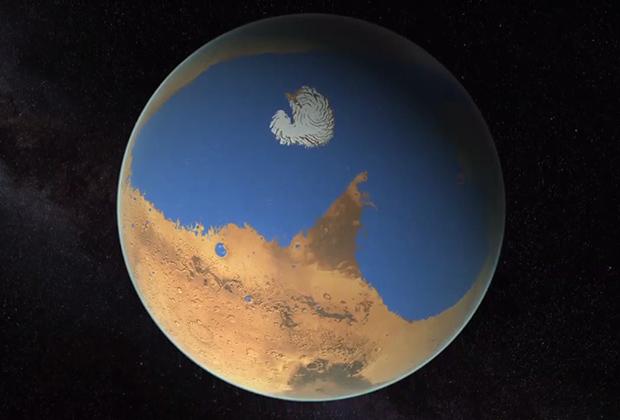 Марс в древности (в представлении художника)