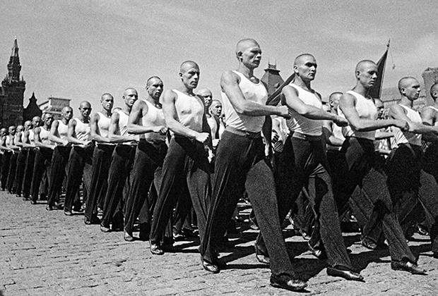 Физкультурный парад на Красной площади, Москва, 1939 год