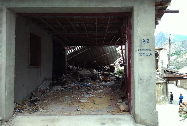 Некоторые дома в Гимры были разрушены в ходе спецопераций по ликвидации террористов