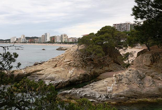 Вид на город из второй лагуны