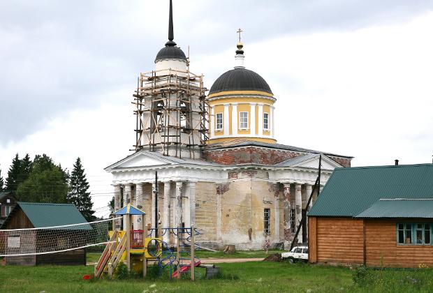 Храм Вознесения Господня 1838 года в деревне Дудино Тверской области