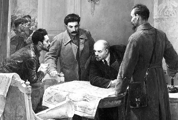 Владимир Серов. Картина «24 октября 1917 года». Музей Русского искусства в Киеве