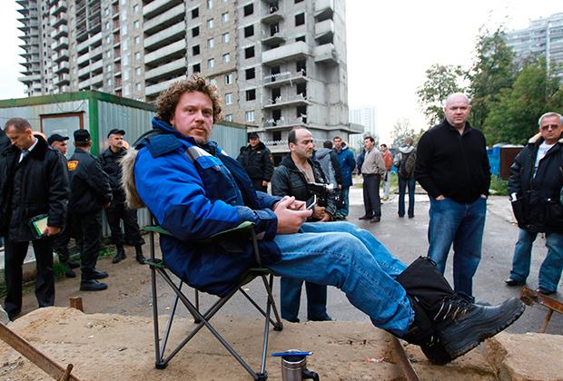 Сергей Полонский объявил голодовку в знак протеста против рейдерского захвата жилищного комплекса «Кутузовская миля»