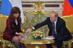 Кристина Фернандес де Киршнер и Владимир Путин