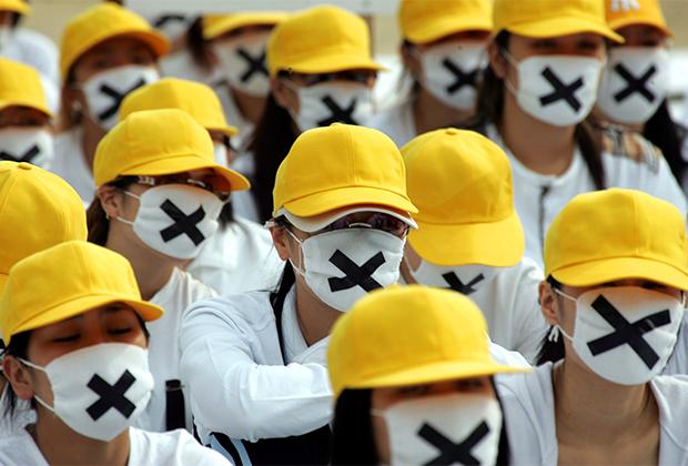 Работницы секс-индустрии на акции протеста 11 октября 2004 года
