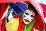 Корейская проститутка в национальном костюме во время акции протеста против полицейских рейдов на бордели