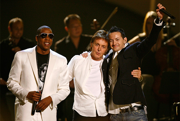 ДЖЕЙ-ЗИ, Пол Маккартни и Честер Беннингтон на церемонии «Грэмми», 2006 год