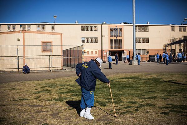 Заключенный мужской колонии в американском городе Сан-Луис-Обиспо, штат Калифорния