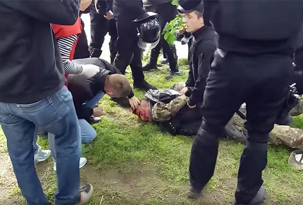 Задержание участников беспорядков 9 мая в Днепропетровске
