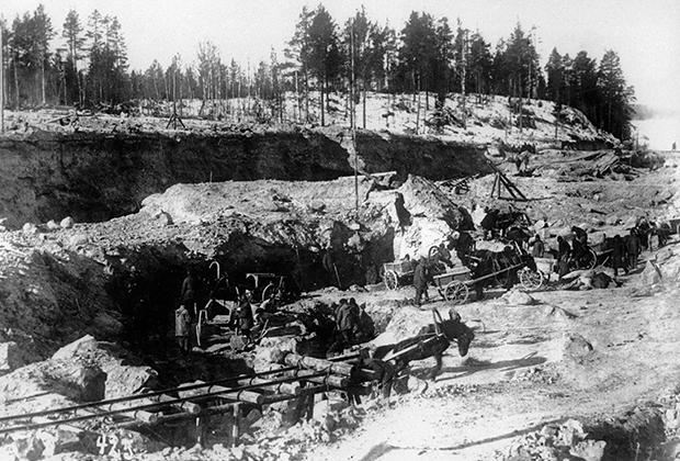 Строительство Беломорканала, 1933 год