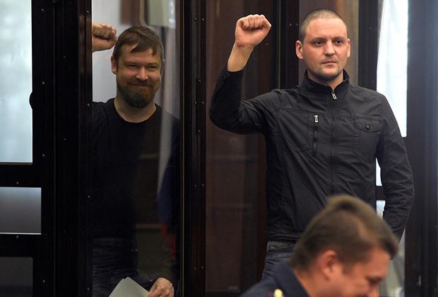 Во время слушаний по делу против Удальцова и Развозжаева в Мосгорсуде