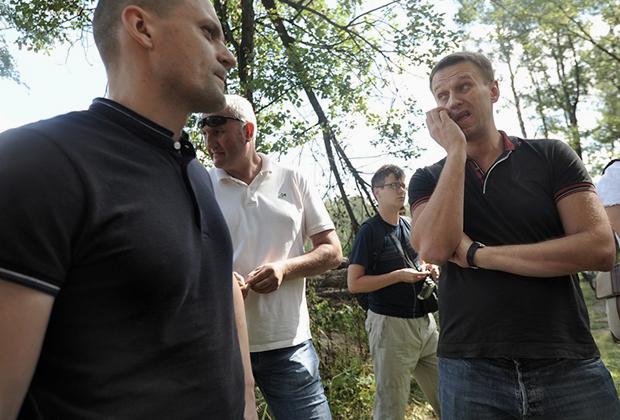Сергей Удальцов и Алексей Навальный