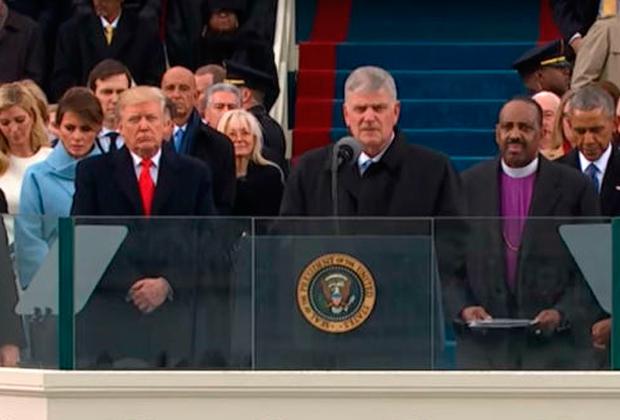 Пастор Франклин Грэм на инаугурации Трампа. Грэм известен своим теплым отношением к российскому лидеру