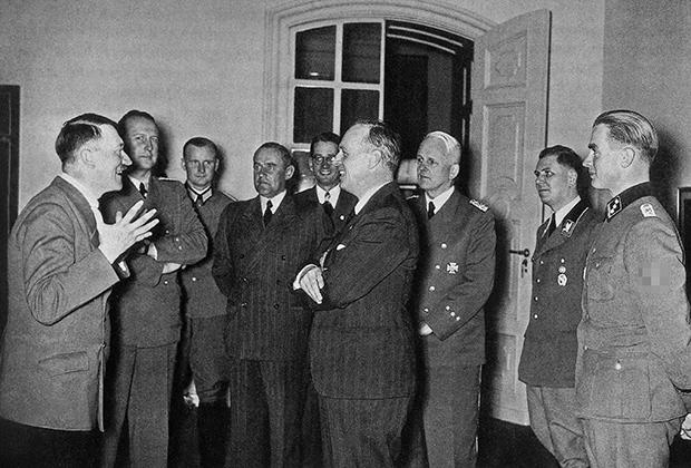 Гитлер и Риббентроп, 1939 год