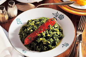 Kale and Pinkel, North German speciality sausage, Germany, Europe Photographer: © gourmet-vision