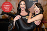 LAS VEGAS, NV - JANUARY 18: (EDITORS NOTE: Image contains partial nudity.) Adult film actress Kendra Lust picks up adult film actress Janice Griffith at the Pornhub booth at the 2017 AVN Adult Entertainment Expo at the Hard Rock Hotel & Casino on January 18, 2017 in Las Vegas, Nevada. (Photo by Ethan Miller/Getty Images)