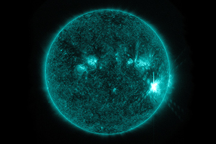 Солнечная вспышка балла X1.3 (произошла 7 сентября 2017 года)