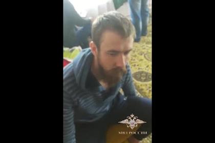 Опубликовано видео задержания лидера «Христианского государства» Калинина