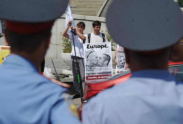 Акция «Спасибо! Не надо» против гей-парадов и однополых браков в Москве