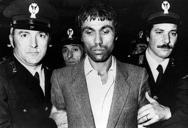 Мехмет Али Агджа после задержания в 1981 году