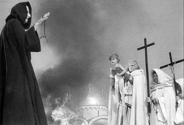 Зверства немецких крестоносцев в Пскове