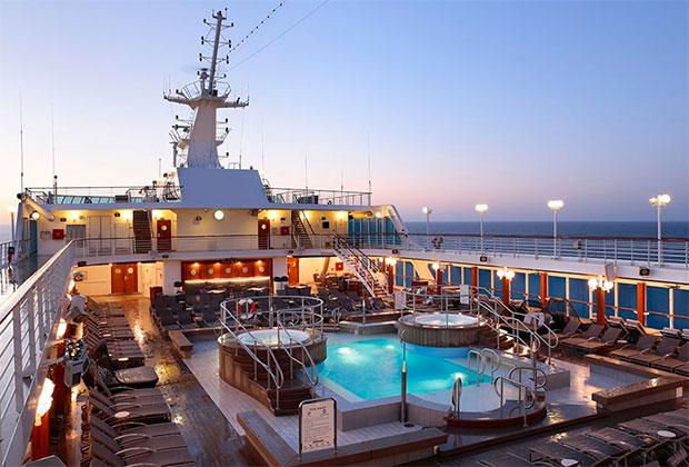 На корабле множество различных зон, где можно предаться наслаждениям